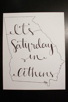 Georgia: Saturday in Athens Print. $15.00, via Etsy.