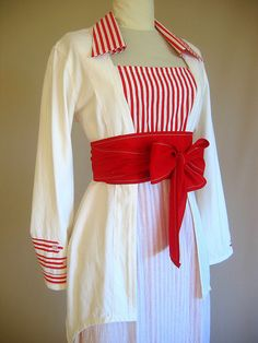 Edwardian day dress - Love the stripes!