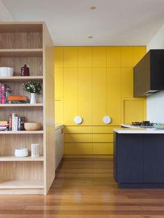 Une pointe de jaune dans la cuisine