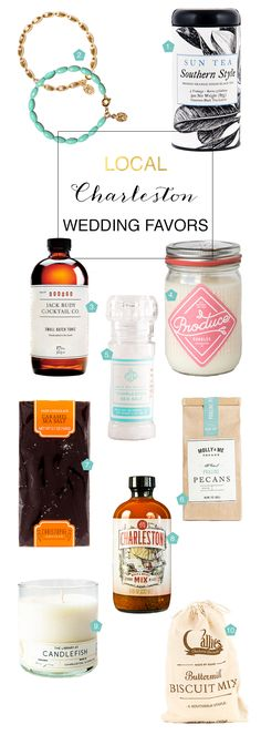 Our top ten favorite local Charleston products for wedding favors!