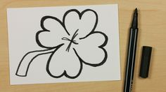 How to Draw a Lucky Clover, Cloverleaf or Shamrock - Easy Cartoon Doodle for Kids [104] - https://youtu.be/RmZTzV98uss - Subscribe: https://www.youtube.com/channel/UCzp_6nj33P39unKIBTNvXkQ?sub_confirmation=1