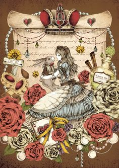 watch illustration clock alice in wonderland / watch illustration clock ; watch illustration clock alice in wonderland ; Alicia Wonderland, Adventures In Wonderland, Wonderland Party, Wonderland Tattoo, Lewis Carroll, Disney Pinterest, Gato Alice, We All Mad Here, Illustration Fantasy