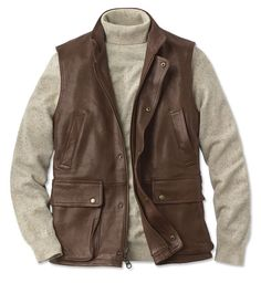 Just found this Leather Vests - Lambskin Munitions Leather Vest -- Orvis on Orvis.com!