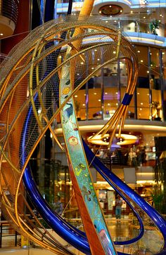 Curves ahead in the Centrum of Explorer of the Seas.