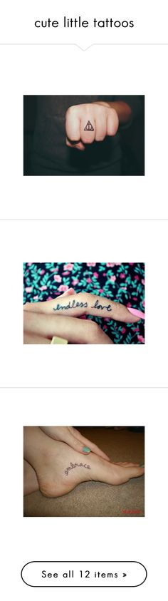 """""""cute little tattoos"""" by joshsbabe ❤ liked on Polyvore"""