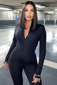 Leather Jumpsuit, Black Jumpsuit, Rompers Women, Jumpsuits For Women, Brown Jumpsuits, Black Lace Romper, Dress Black, Jackets For Women, Sweaters For Women