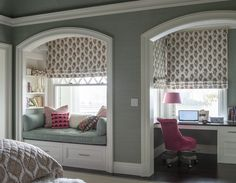 I would love this little reading nook small window balcony in cozy master bedroom