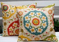 Richloom Cornwall Garden Throw Pillow Cushion Covers by Festive Home Decor - mediterranean - pillows - Etsy
