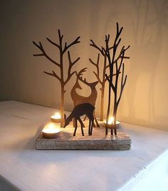 Reindeer Tealight Holder I love this!!