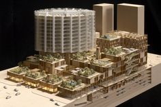 Aldar Central Market souk Abu Dhabi By Foster & Partners – model photo 01 Foster Architecture, Form Architecture, Traditional Market, Foster Partners, Central Market, Arch Model, Norman Foster, Abu Dhabi, Model Photos