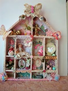 ILuvVintageScrap: My Shabby Chic Shadow Box