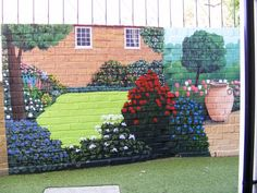 Exterior Wall Murals | Exterior Wall Garden Mural Photo By BogusGroundworm  | Photobucket
