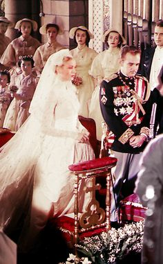 Grace Kelly and Prince Rainier in Saint Nicholas Cathedral