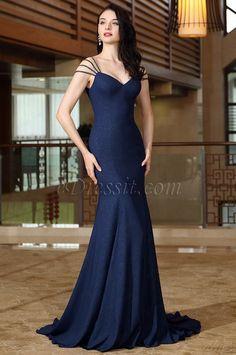 Cap Sleeves with Beaded Mermaid Prom Gown Formal Wear