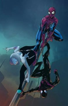 Peter Parke/Gwen Stacy/Miles Morales