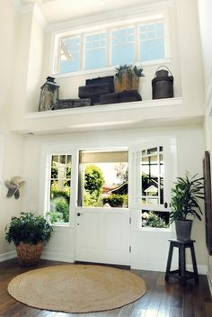 this dutch door is amazing! instead of sliding doors in family room - with side lights?