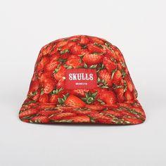 Skulls-Strawberries-5-Panel-Cap