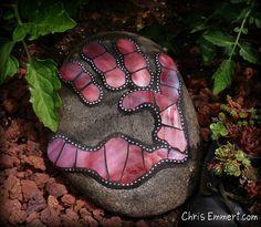 Mosaic Garden Stone by Chris Emmert