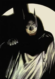 Batman, by Alex Ross. More Batman-related images at these Pinterest links: http://pinterest.com/jefffaria/pop-cult-batmania-1-3/ - http://pinterest.com/jefffaria/pop-cult-batmania-2-3/ - http://pinterest.com/jefffaria/pop-cult-batmania-3-3/ ®....#{T.R.L.}