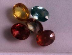 Catawiki Online-Auktionshaus: 5 Gemischte Farbe Saphir, 2,27 ct