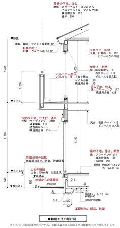 図面ってなあに!−矩計図 Japanese Home Design, Japanese House, Japanese Architecture, Architecture Design, Exam Study, Lighting Design, House Plans, Knowledge, Floor Plans