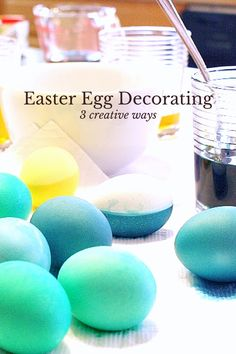 Easter egg decorating ideas and instructions : How to hard boil an egg, dye eggs, and decorate eggs 3 different ways.