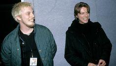 Duncan Jones with his dad David Bowie, 1999.