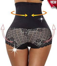 c4e7285491d94 Gotoly Workout Yoga Pants Butt Lifter Shapers Panties Hi-Waist Thigh  Slimming (Small