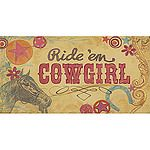 Cowgirl Canvas Reproduction