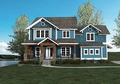 exterior front -- Plan 500001VV: Craftsman Keeper with Beds (and Laundry) Upstairs (Architectural Designs)