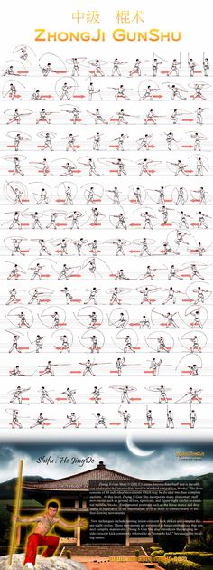 Chinese martial arts and wushu news. staff form zhonjigunshu.jpg (2000×5347)