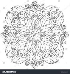 5050dc901b1 Vintage baroque frame scroll ornament engraving border floral retro pattern  antique style acanthus foliage swirl decorative design element filigree ...