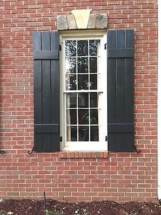 Window boxes curved shutters yellow brick house pinterest for Craftsman style window boxes