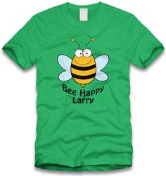 Personalized Bee Happy Boy or Girl t-shirt, $10.00 #DTG