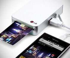 Get this Pocket Printer and you will be able to print your pictures whenever you are! You won't even need the cables it features Bluetooth connection as well! Genius!