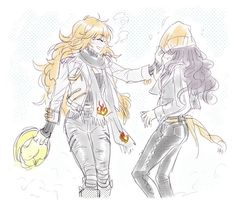 RWBY: Goofing Around - Yang & Blake