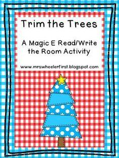 Trim the Trees: A Magic E Activity