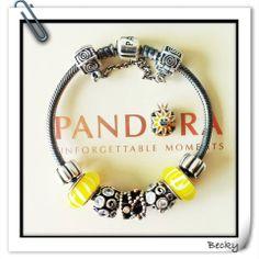 Yellow with diamond delight two tone bead