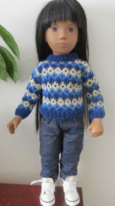 Sasha Doll Hand Knitted Fair Isle Sweater #SashaDolls