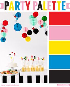 Party Palette: Bright, bold and black #colorpalette