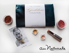 Au Naturale Cosmetics The Gold Goddess Collection includes two powder eye shadows, Bronzer, Blusher, and a Organic Highlighter Stick. Golden Goddess, Organic Makeup, Natural Make Up, Make Me Up, Blusher, Pink Champagne, Shopping Hacks, Bronzer, Beauty Hacks