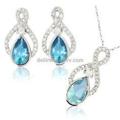blue jewelry set - Google Search