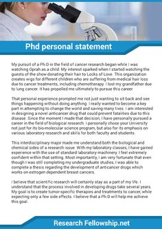 Personal statement phd sample        original papers