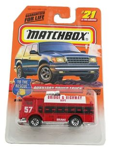 MOC 1998 Matchbox Series 4 Red Mack Auxiliary Power Truck # 21 of 75 SKU 33821  | Toys & Hobbies, Diecast & Toy Vehicles, Cars, Trucks & Vans | eBay!