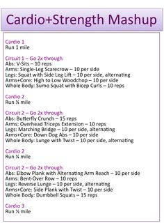 Working Out and Eating In: Cardio+Strength Mashup - Fitness Hitt Workout, Treadmill Workouts, Running Workouts, Fun Workouts, At Home Workouts, Circuit Training Workouts, Boot Camp Workout, Body Workouts, Boxing Workout
