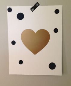 Gold Heart print, which can easily be DIYed and framed.