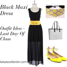 """""""Black Maxi - Outfit Idea for Last Day of Class"""" by mstravesura on Polyvore"""