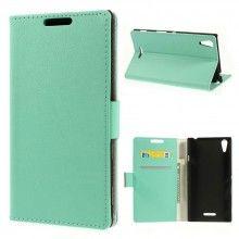 Funda Book Sony Xperia T3 Simple Magnetica Turquesa S/. 40.00