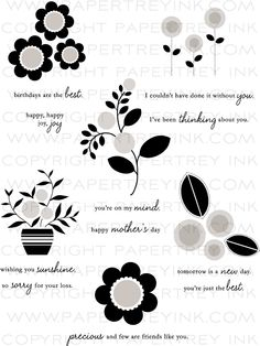 PapertreyInk:  Blooming Button Bits Stamp Set.