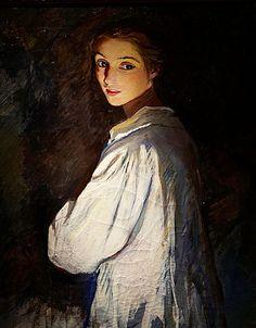 "poboh: "" Girl with a candle, Self-Portrait, 1911, Zinaida Serebryakova. Russian (1884 - 1967) """